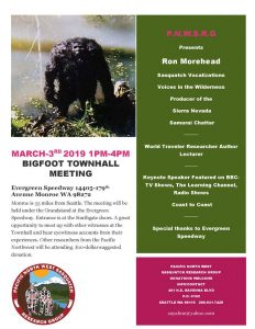 Bigfoot Town Hall Meeting with PNW Sasquatch Research Group